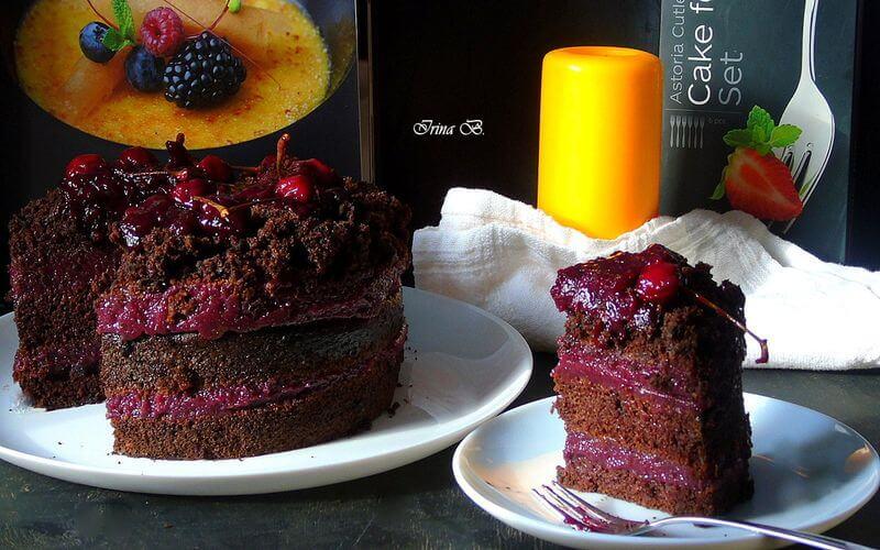 """Пісний торт """"Вишня в шоколаді"""" (1-Місце у конкурсі)"""